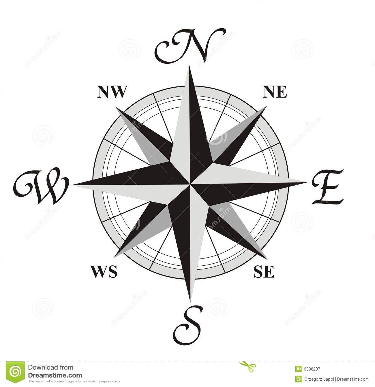Compass Wind Rose Royalty Free Stock Photography - Image: 3398207