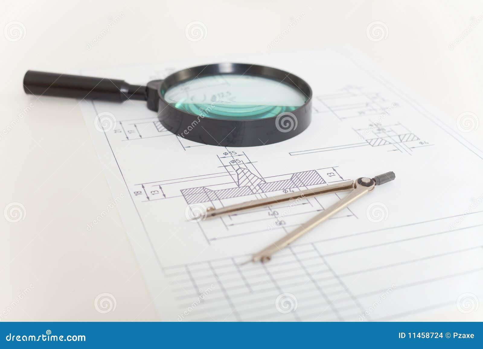 Compasses увеличитель чертежей