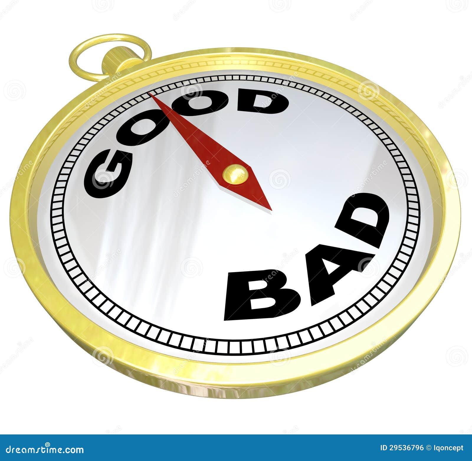 Compasso - conduzindo ao trajeto de bom contra o mau
