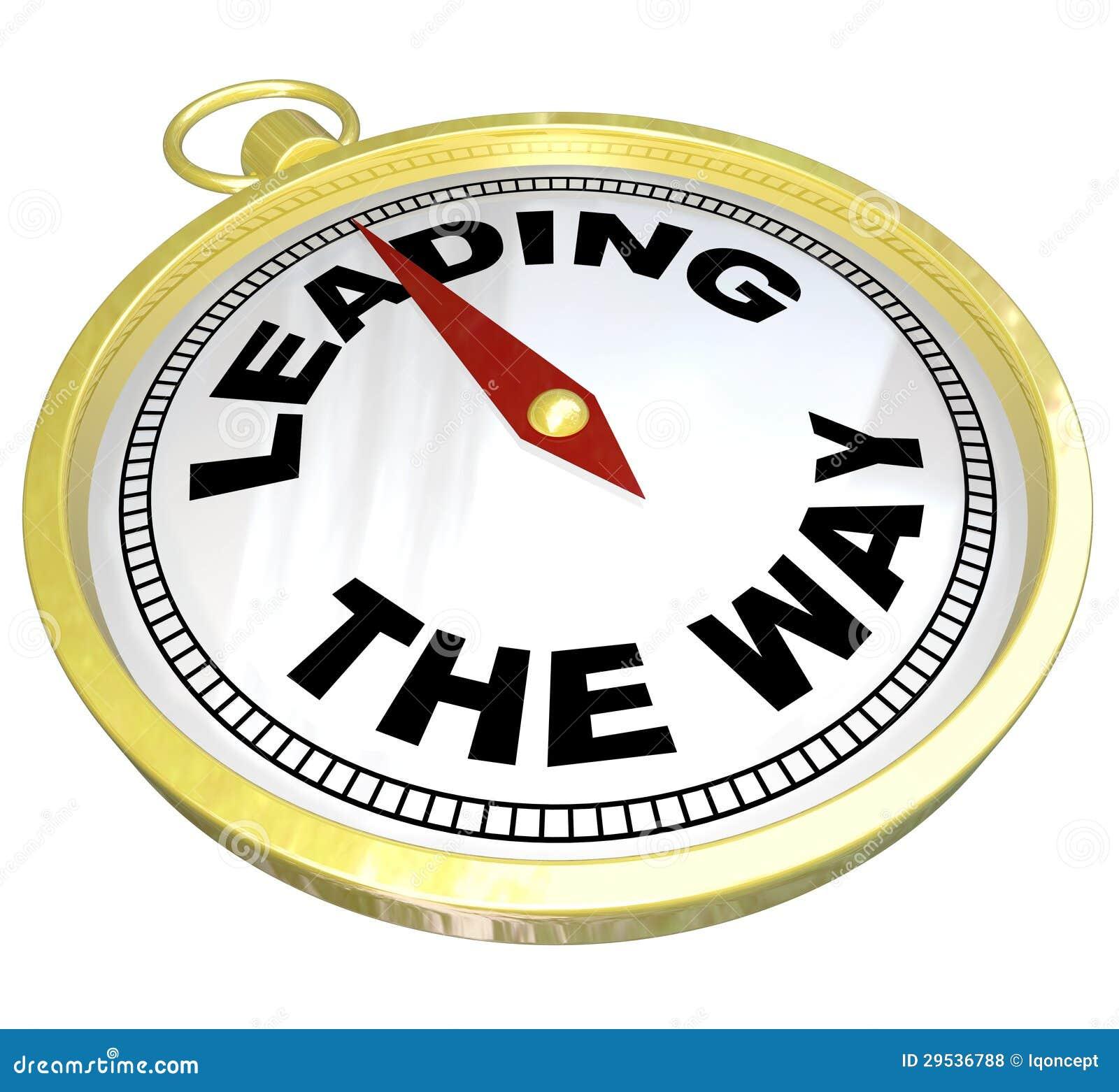 Compasso - conduzindo a maneira com liderança do grupo