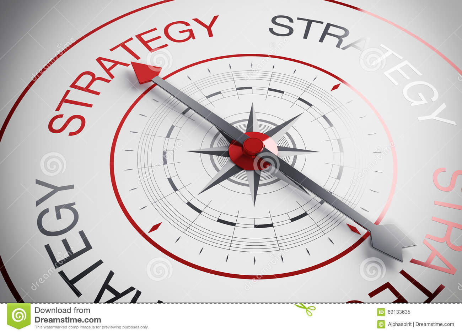 Compasso da estratégia da ilustração 3d