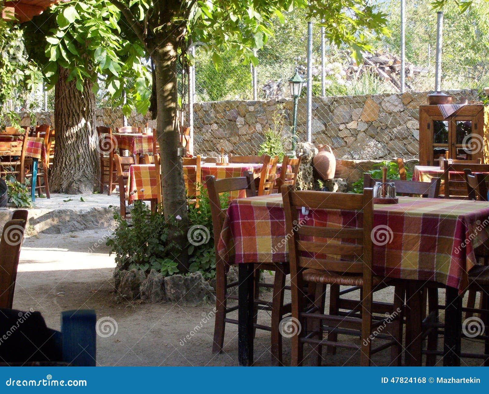 Compatible avec la nature cafés d île de Samothraki de vieux