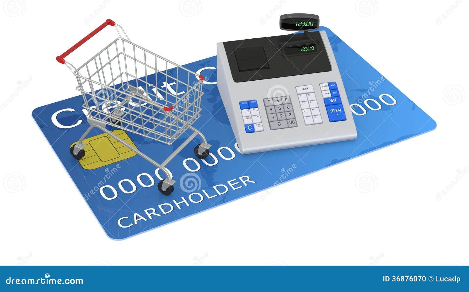 Download Comperando Con La Carta Di Credito Illustrazione di Stock - Illustrazione di elettronico, valuta: 36876070