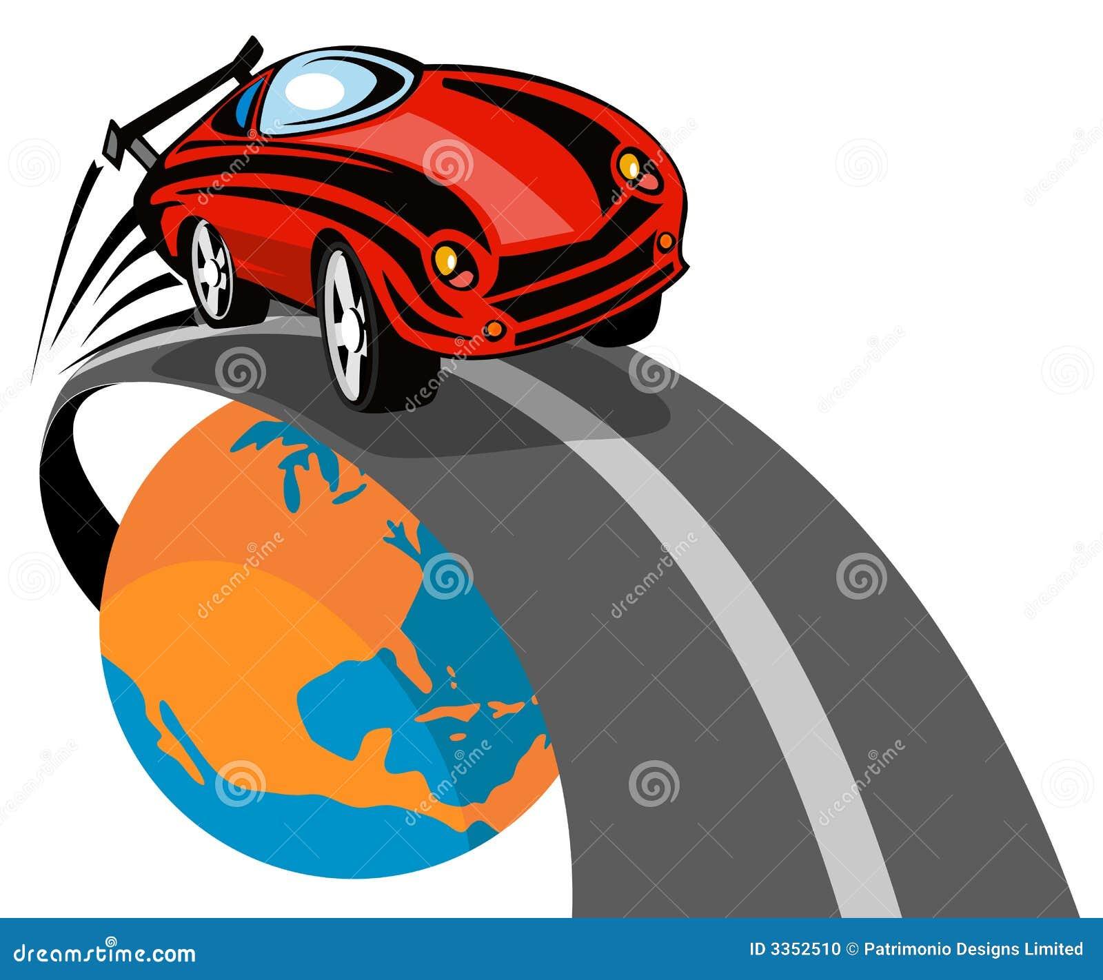 Competência de carro dos esportes fora