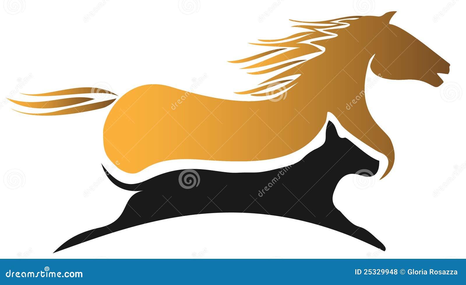 Competência do cavalo e de cão