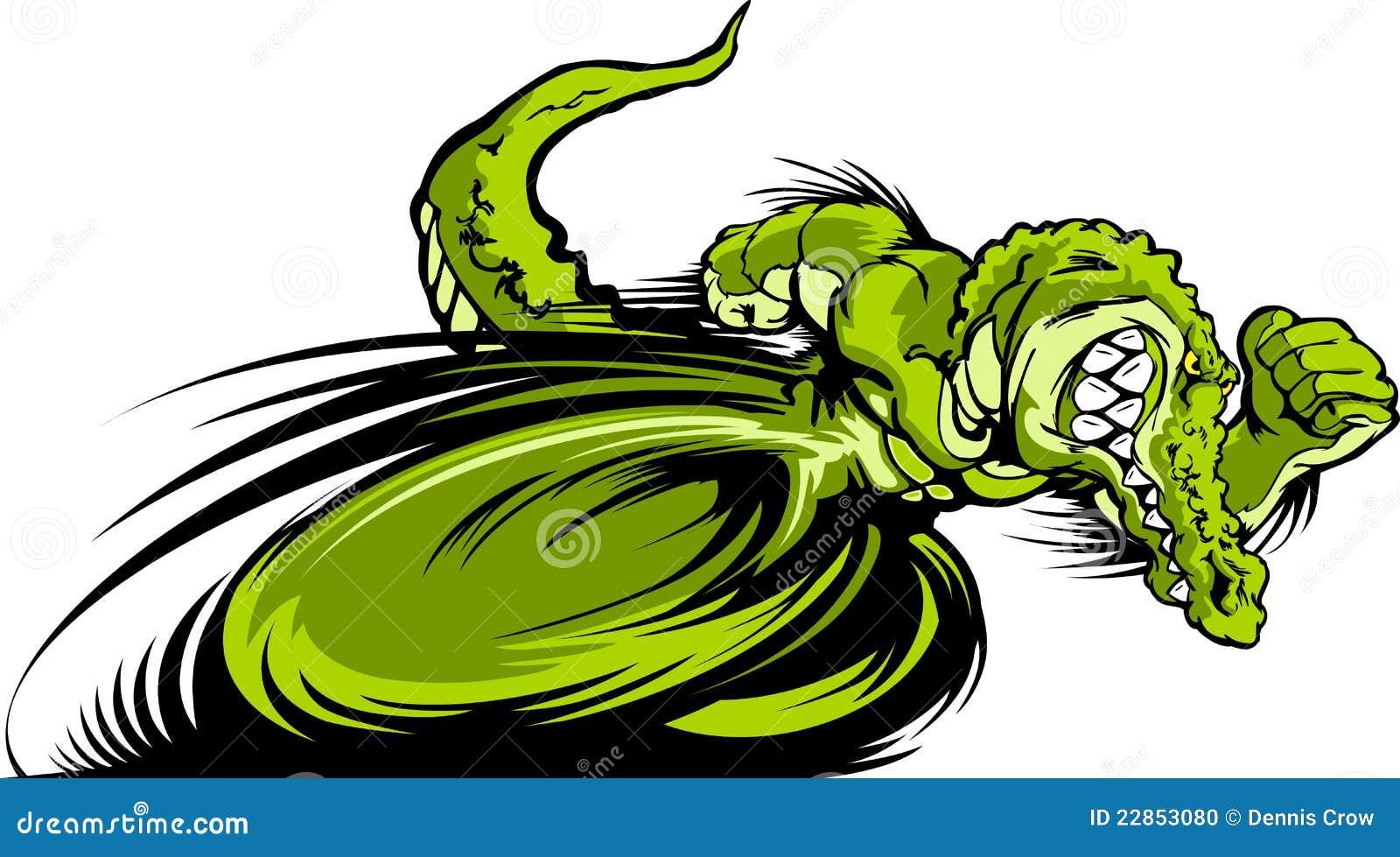 Competindo a imagem do gráfico da mascote de Gator ou de Croc