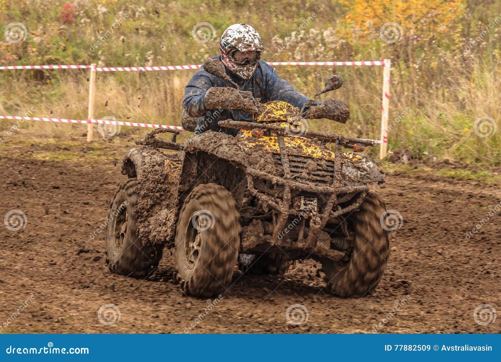 Competir Con ATV Imagen de archivo editorial