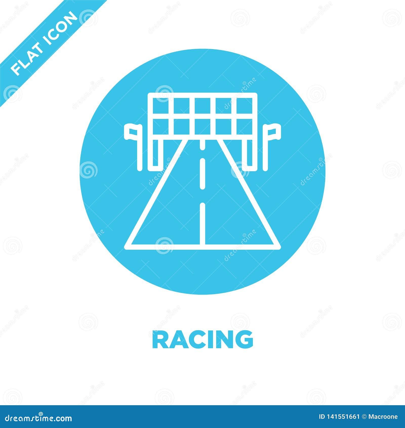 Competir con vector del icono Línea fina que compite con el ejemplo del vector del icono del esquema competir con el símbolo para