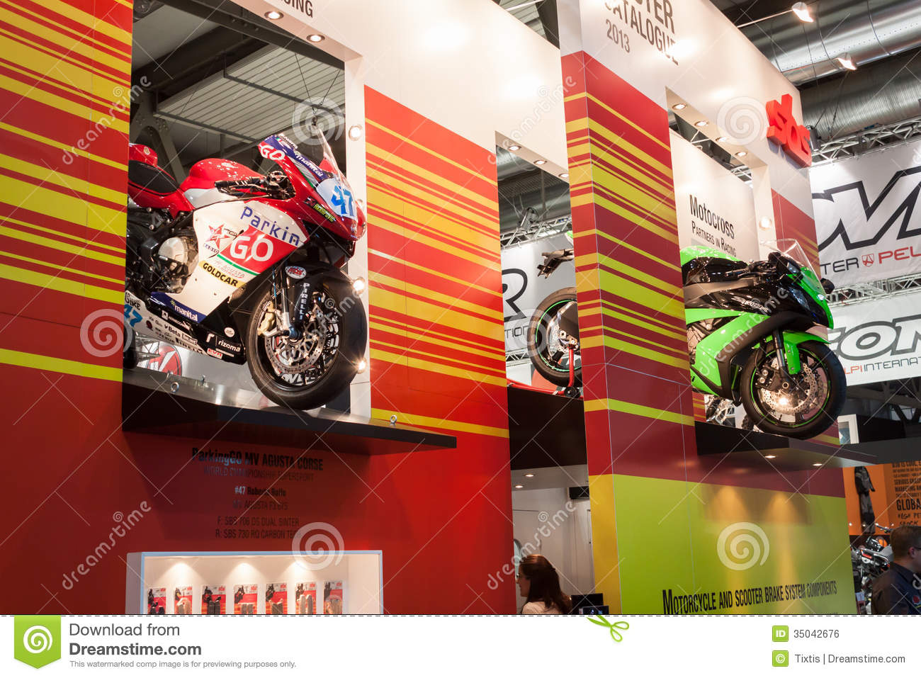 Competition Motorbikes At Eicma 2013 In Milan Italy