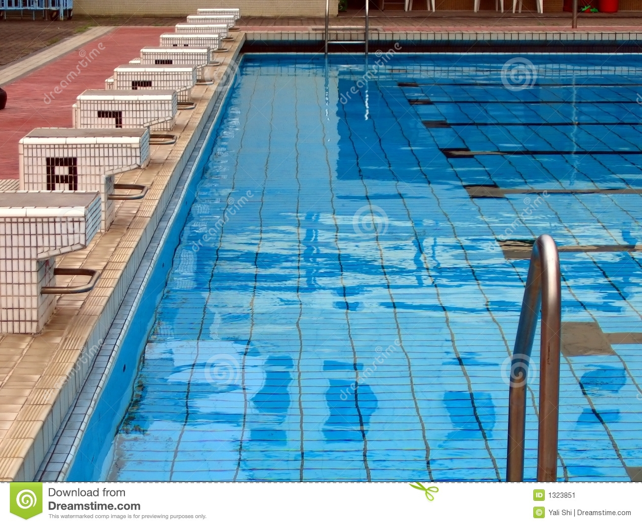 Competition Swimming Pool Stock Image Image 1323851