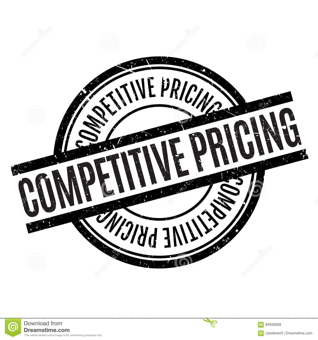 Competitive Pricing: Competitive Pricing Rubber Stamp Stock Illustration