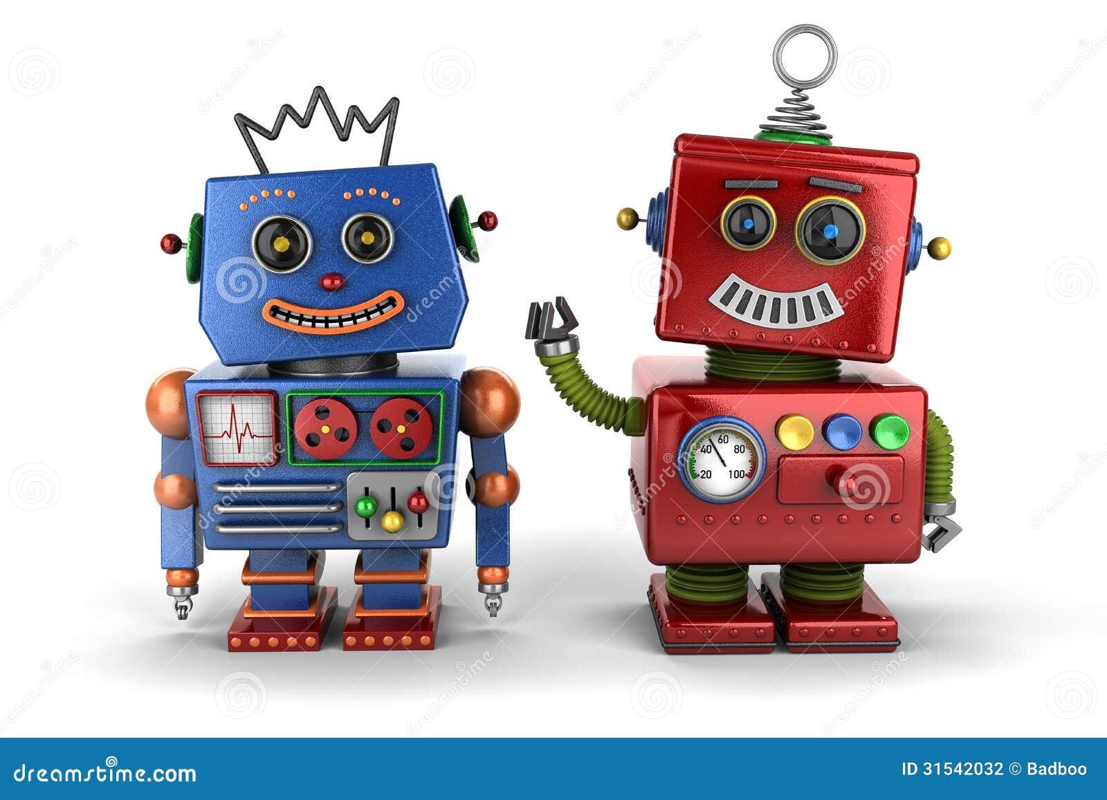 Compinches del robot del juguete