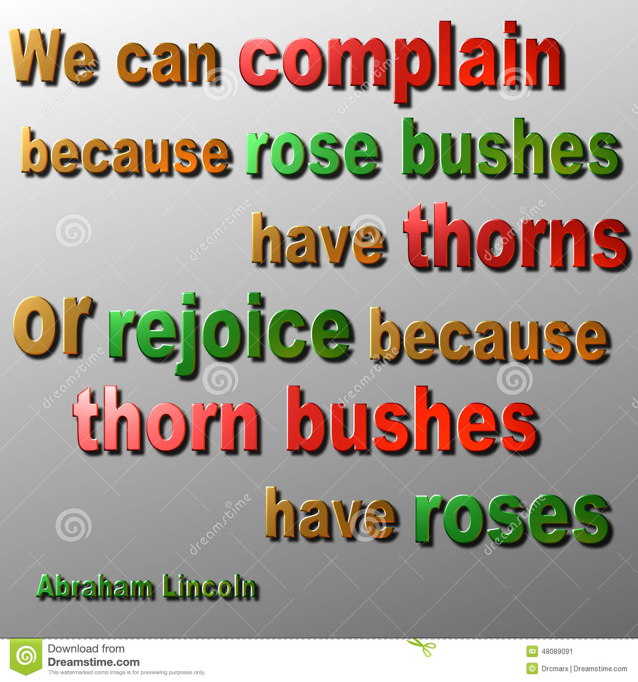 Complain Or Rejoice Quote Abraham Lincoln Stock Illustration