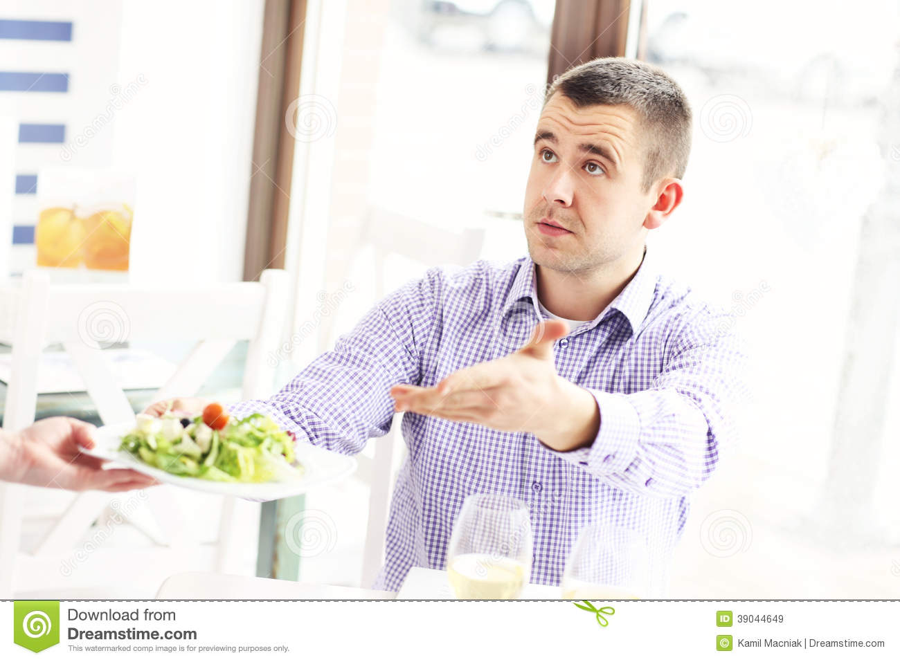 Complaining Customer In A Restaurant Stock Image - Image ...