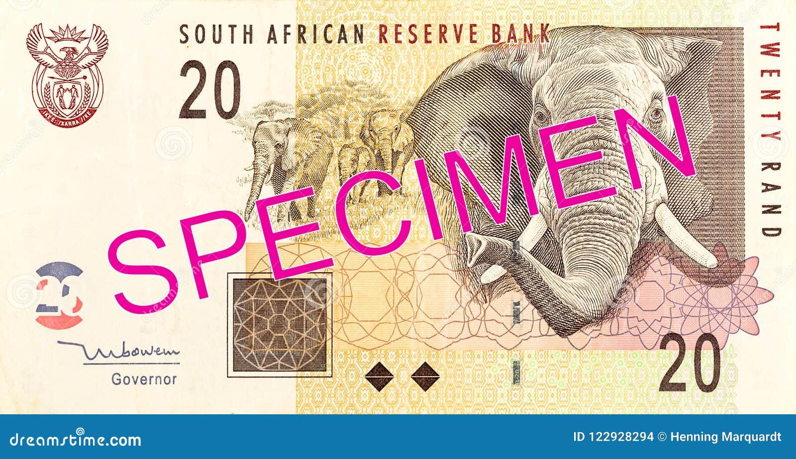 Complemento della banconota da 20 Rand sudafricani