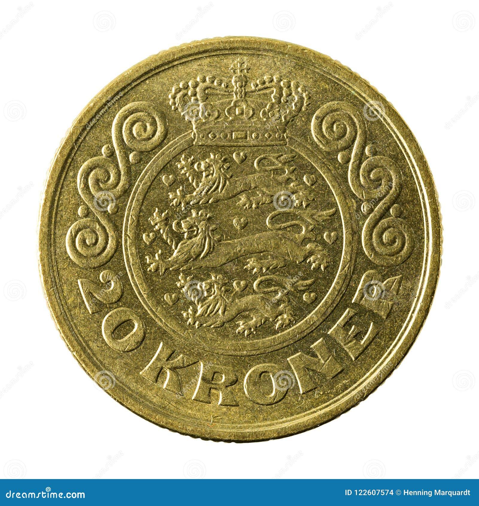 20 complemento della moneta 1991 della corona danese