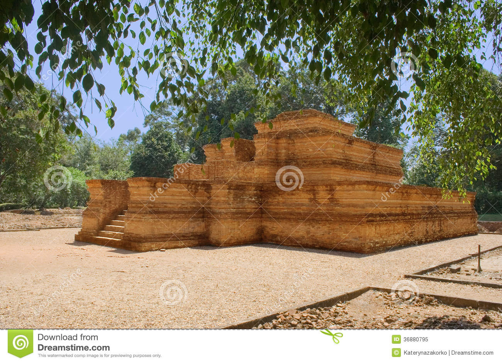 Download Complesso Del Tempio In Jambi Sumatra Immagine Stock - Immagine di fogli, rovina: 36880795