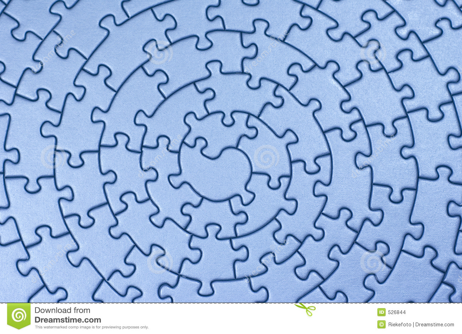 Complete blue jigsaw
