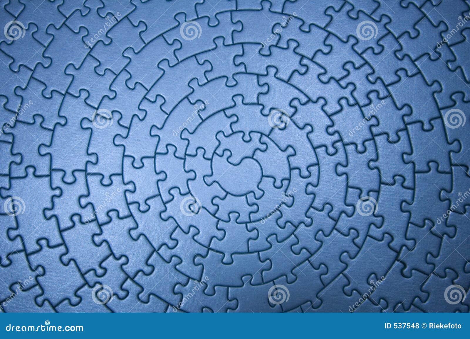 Complete Blue Jigsaw Wide Angle Stock Photo Image 537548