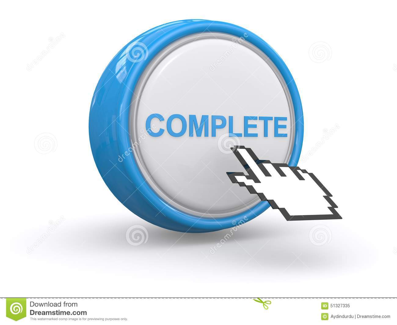 Complete Button Stock Illustration - Image: 51327335