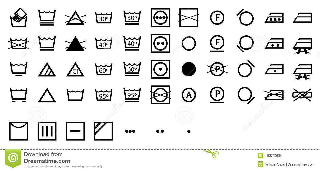 Complete international laundry symbols collection stock vector complete international laundry symbols collection buycottarizona