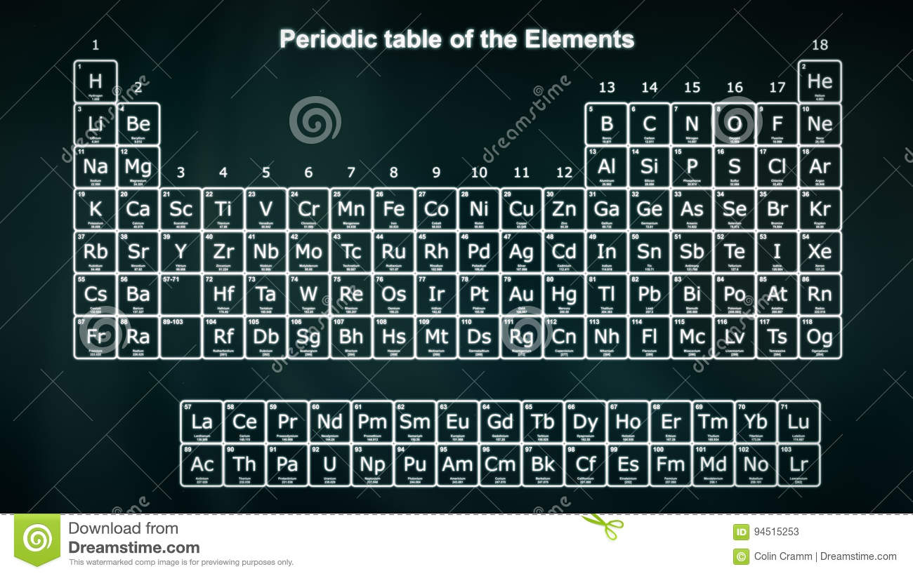 Complete periodic table of the elements stock illustration image royalty free illustration download complete periodic table gamestrikefo Gallery