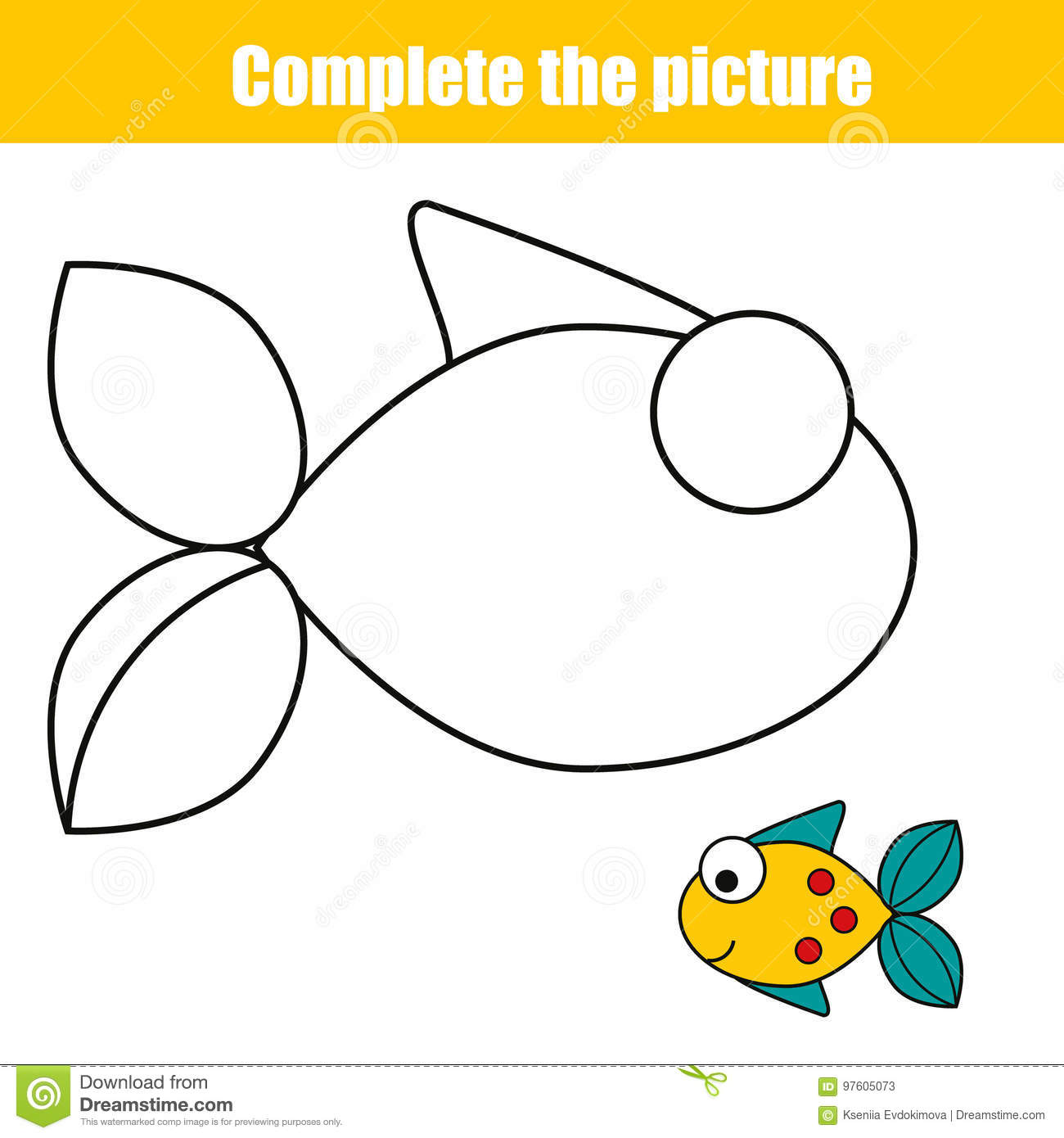 This is a picture of Fish Printable within clipart