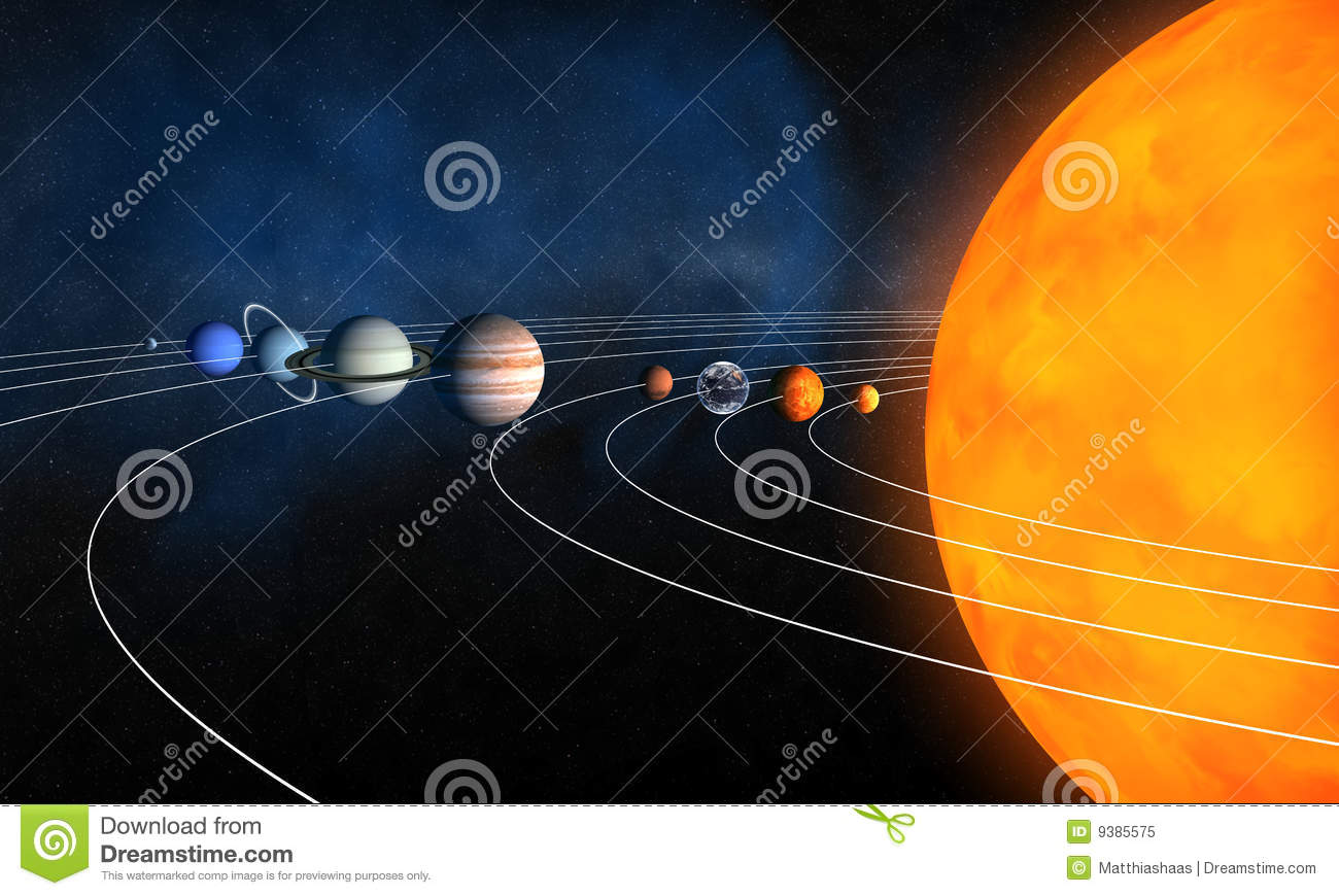 complete solar system royalty free stock photo image