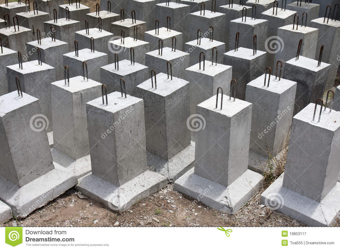 Completed concrete foundation royalty free stock for Best temperature to pour concrete foundation