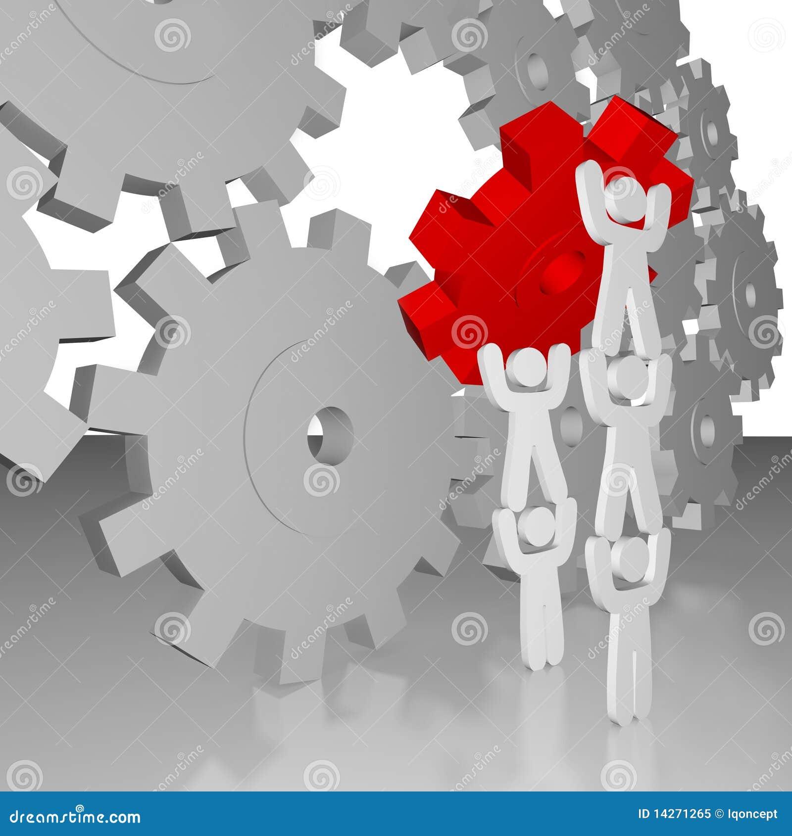 completing the job teamwork stock illustration illustration of