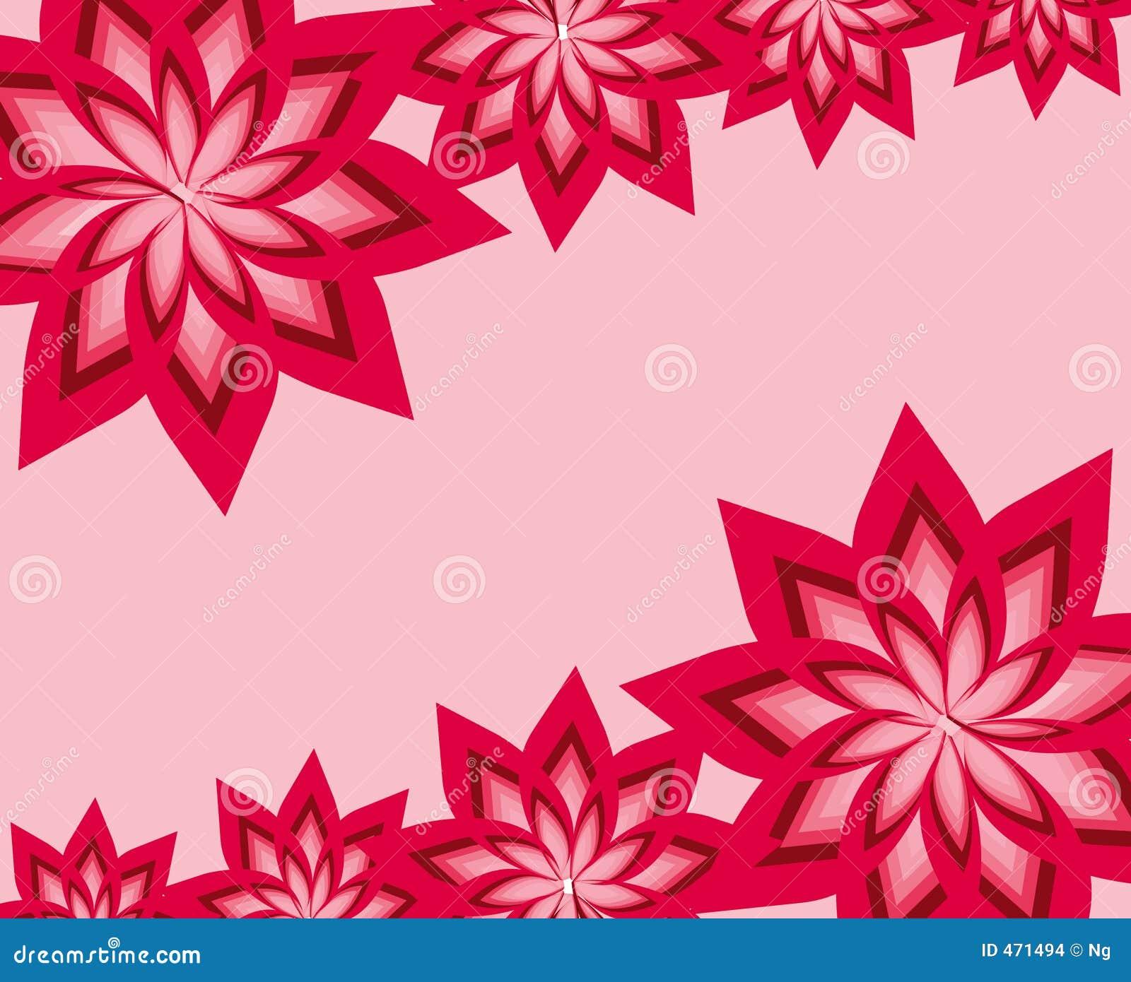 Complex floral frame