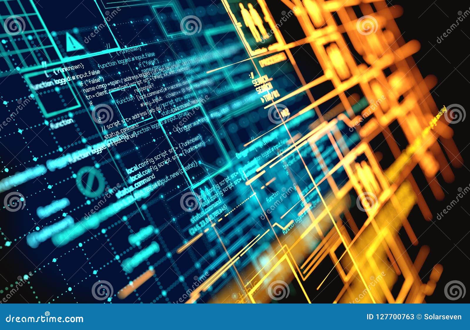 Complex Futuristic Information Data