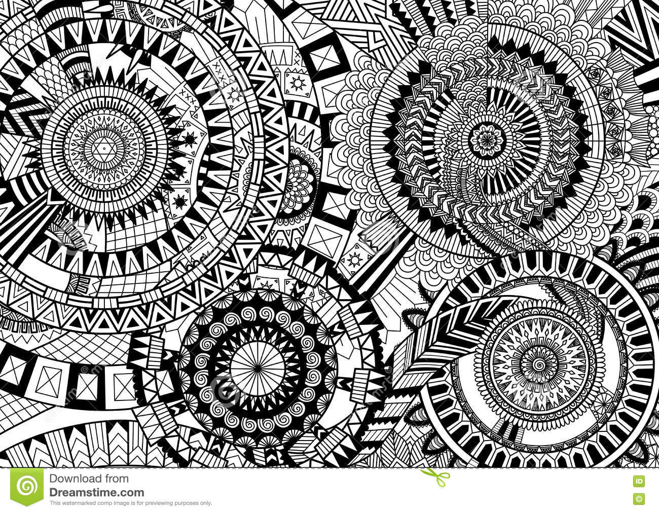 Complex Mandala Movement Stock Vector Illustration Of