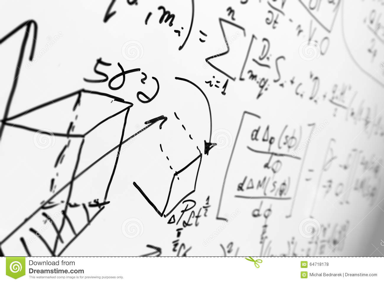 Complex math formulas on whiteboard mathematics and science with royalty free stock photo biocorpaavc