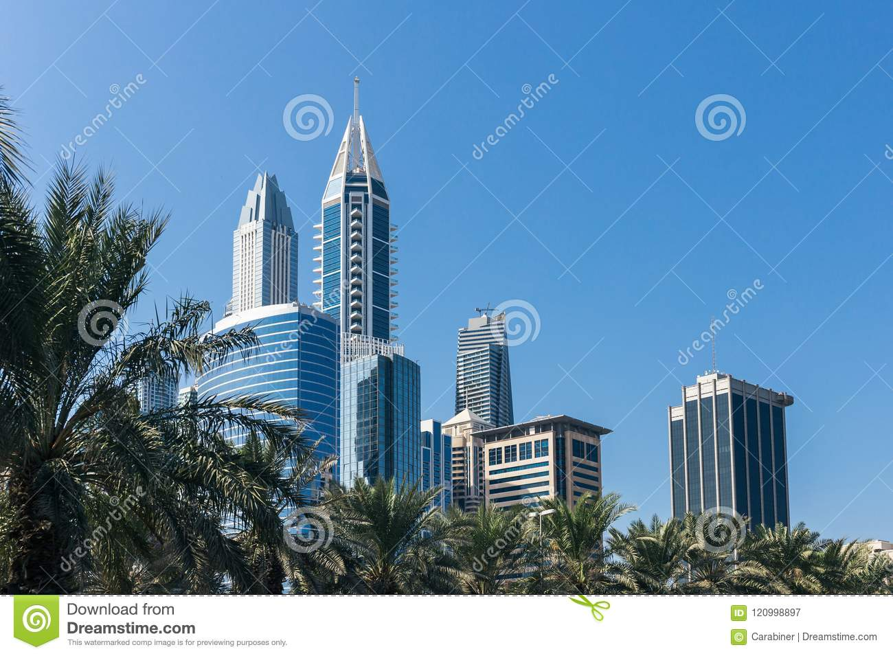 complex of modern buildings in dubai uae editorial photography