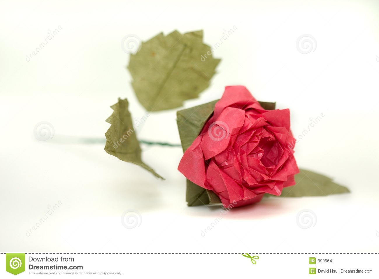 Complex Origami Rose 2 Stock Photo Image Of Japanese Love 999664
