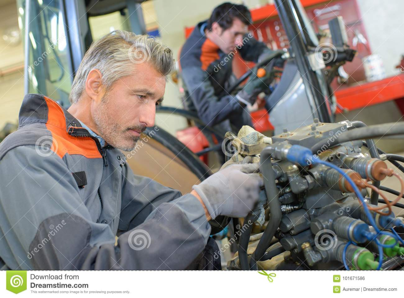 Complex Wiring On Tractor Stock Photo  Image Of Salary