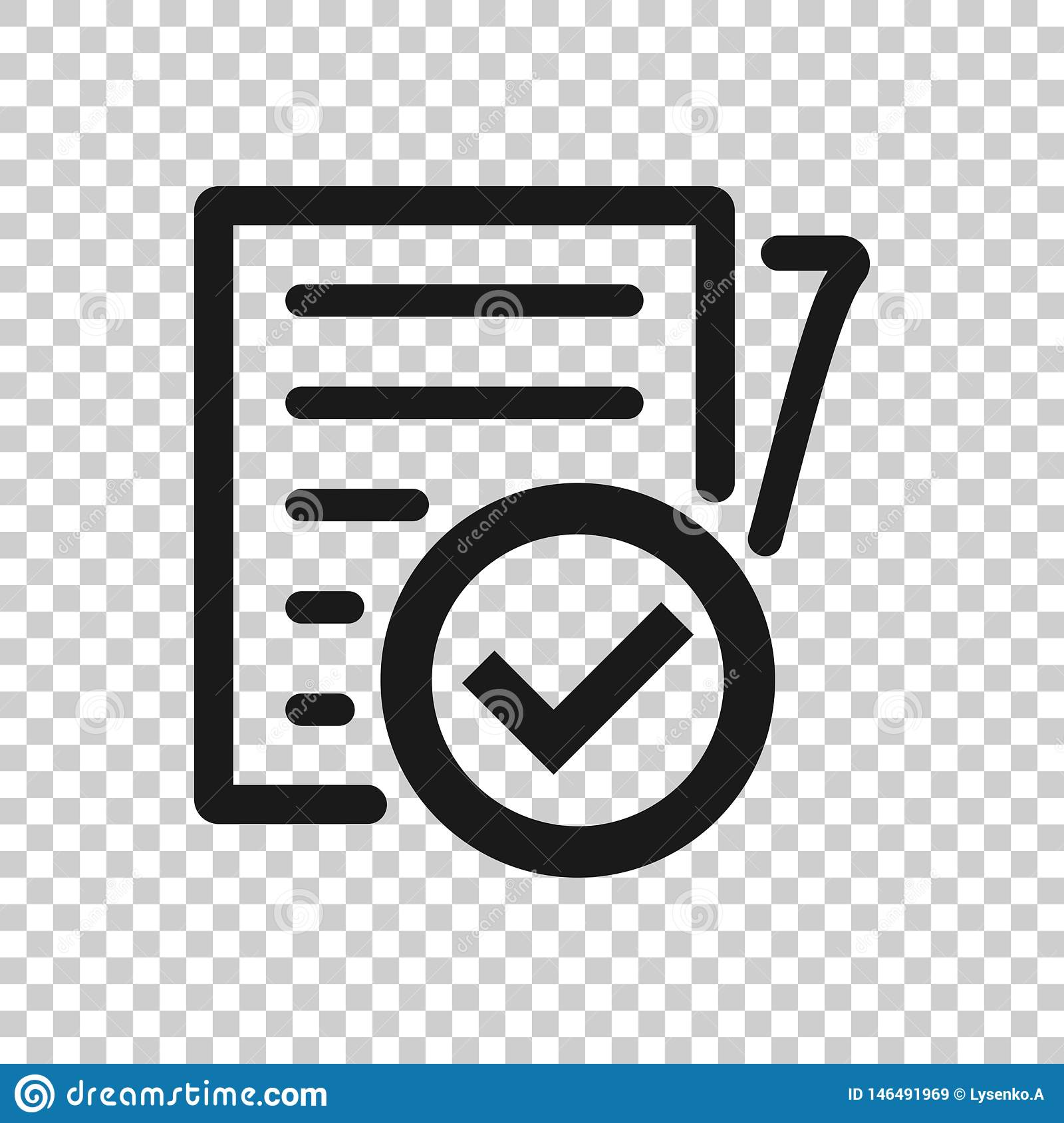 Compliance Document Icon In Transparent Style  Approved