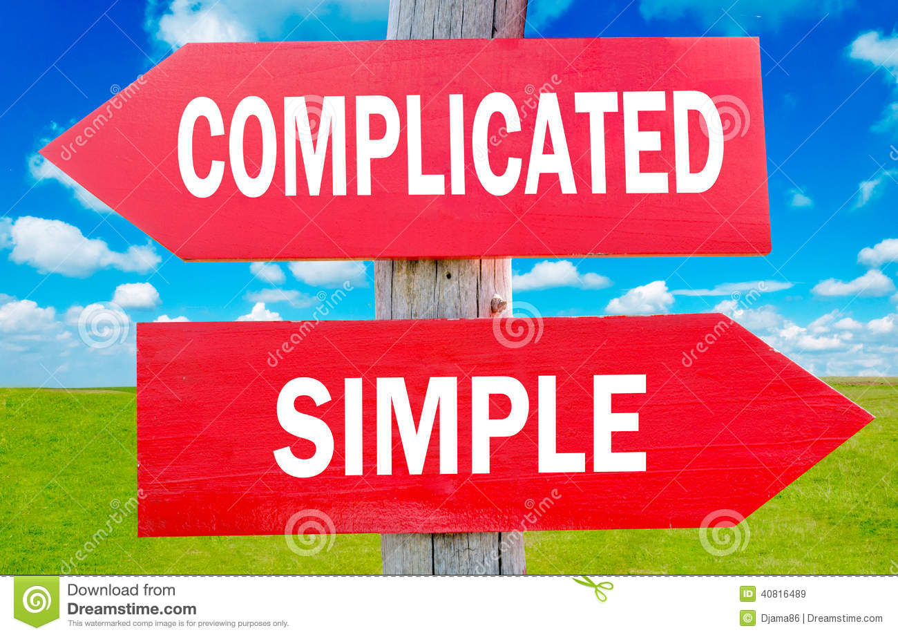 Complicated Or Simple Stock Illustration Image 40816489