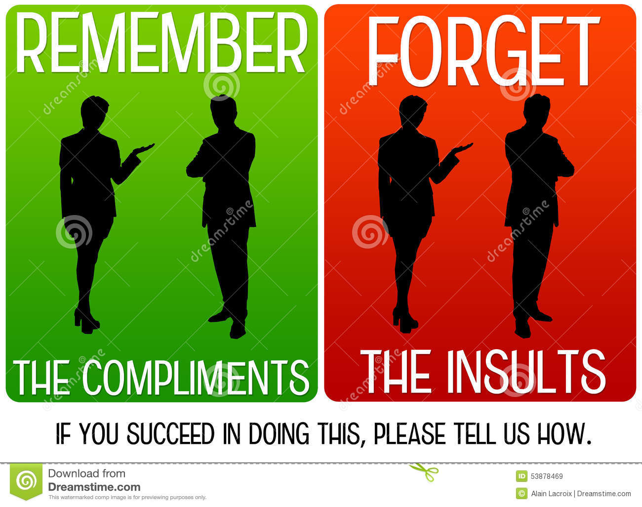 Compliments and insults
