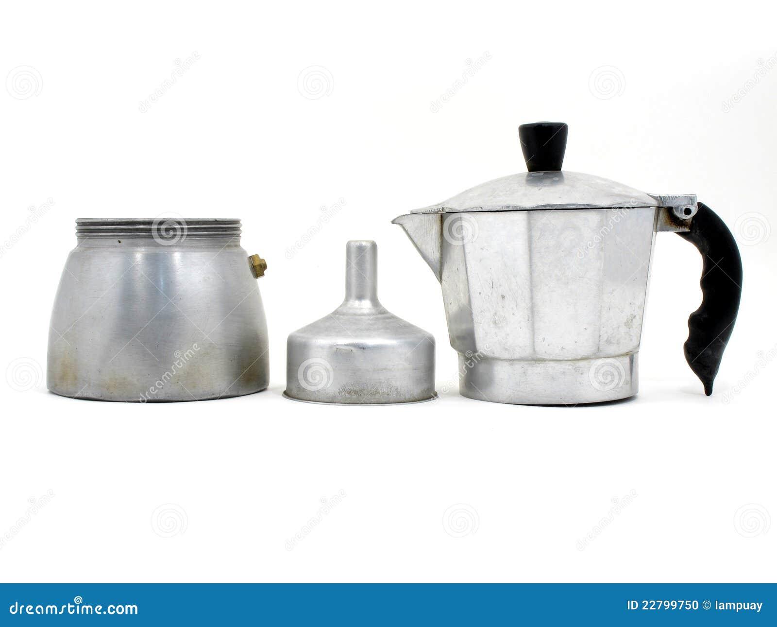 Italian Coffee Maker Vector : Component Of Italian Coffee Maker Stock Photo - Image: 22799750