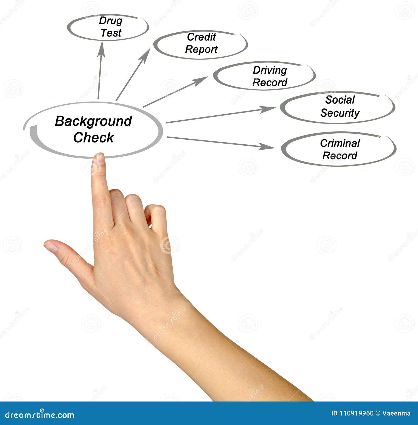 Componentes da comprovação de antecedentes