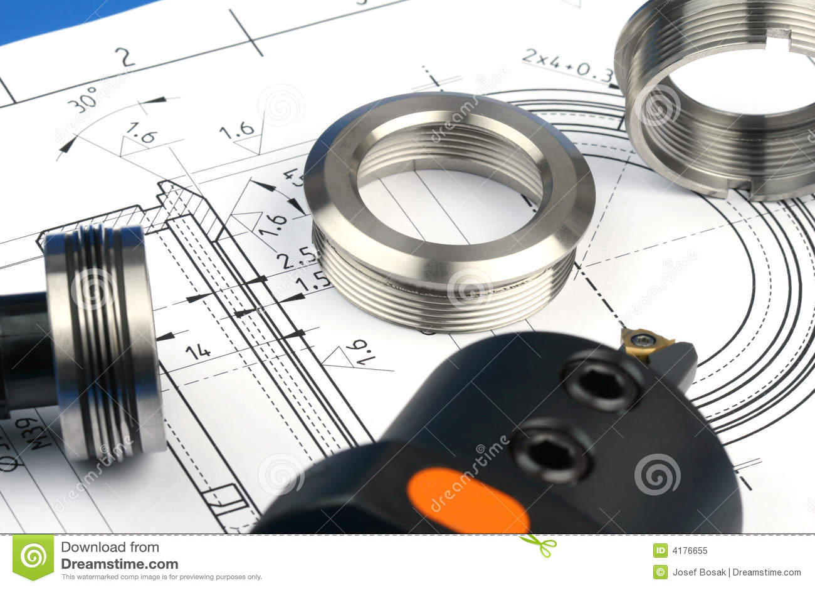 Componentes de medição do metal