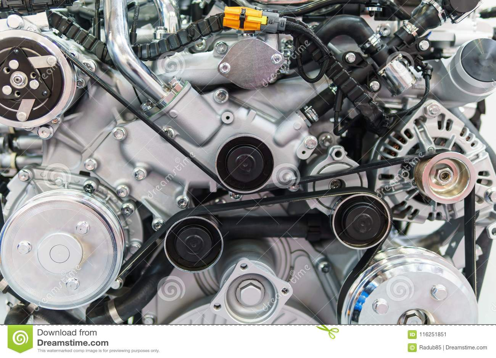Componentes do motor do motor do caminhão no serviço do carro