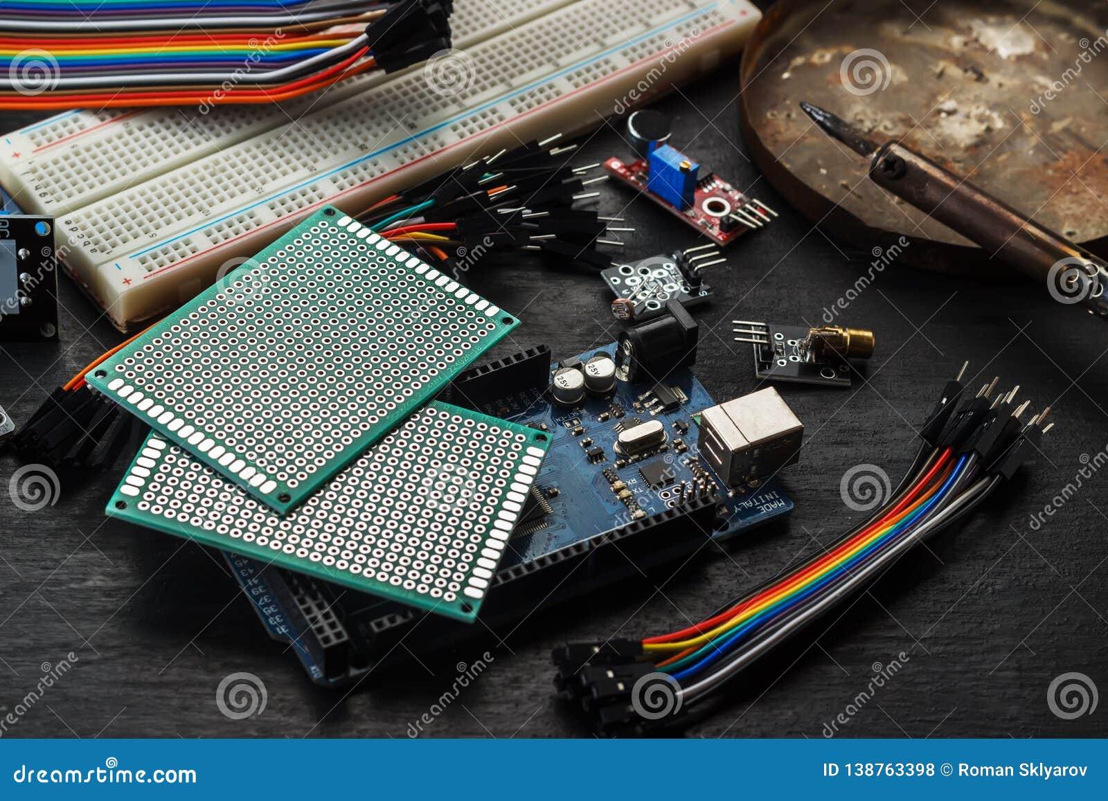 Componentes electrónicos y sensores para el arduino