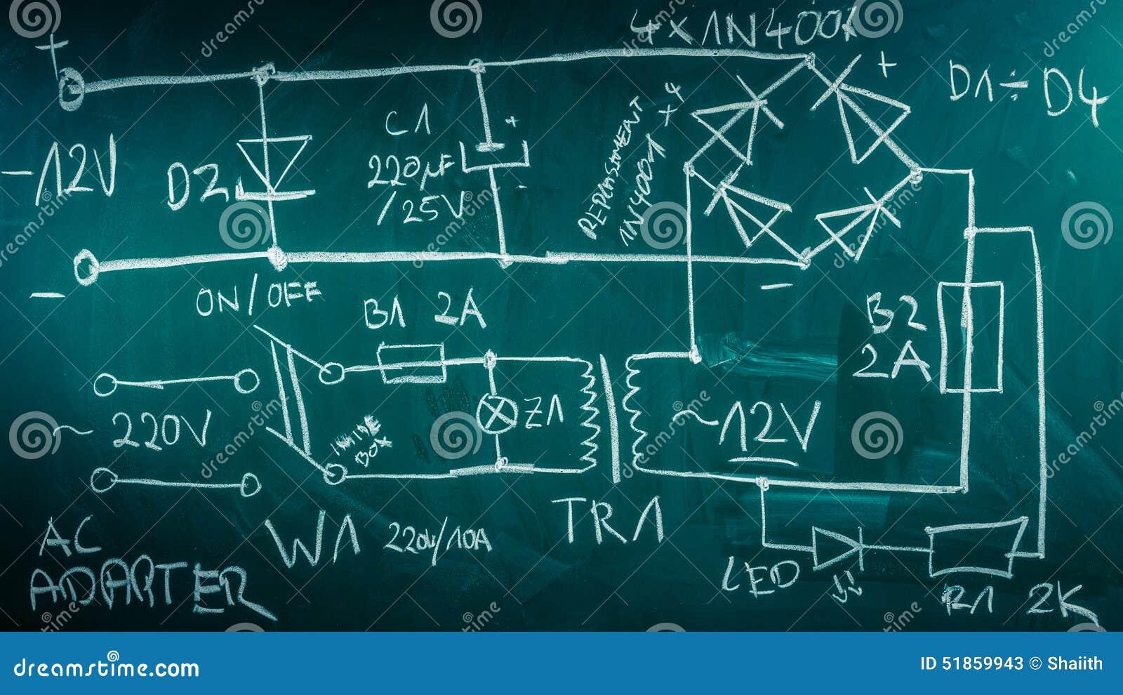 Componentes retros da eletrônica no laboratório de física