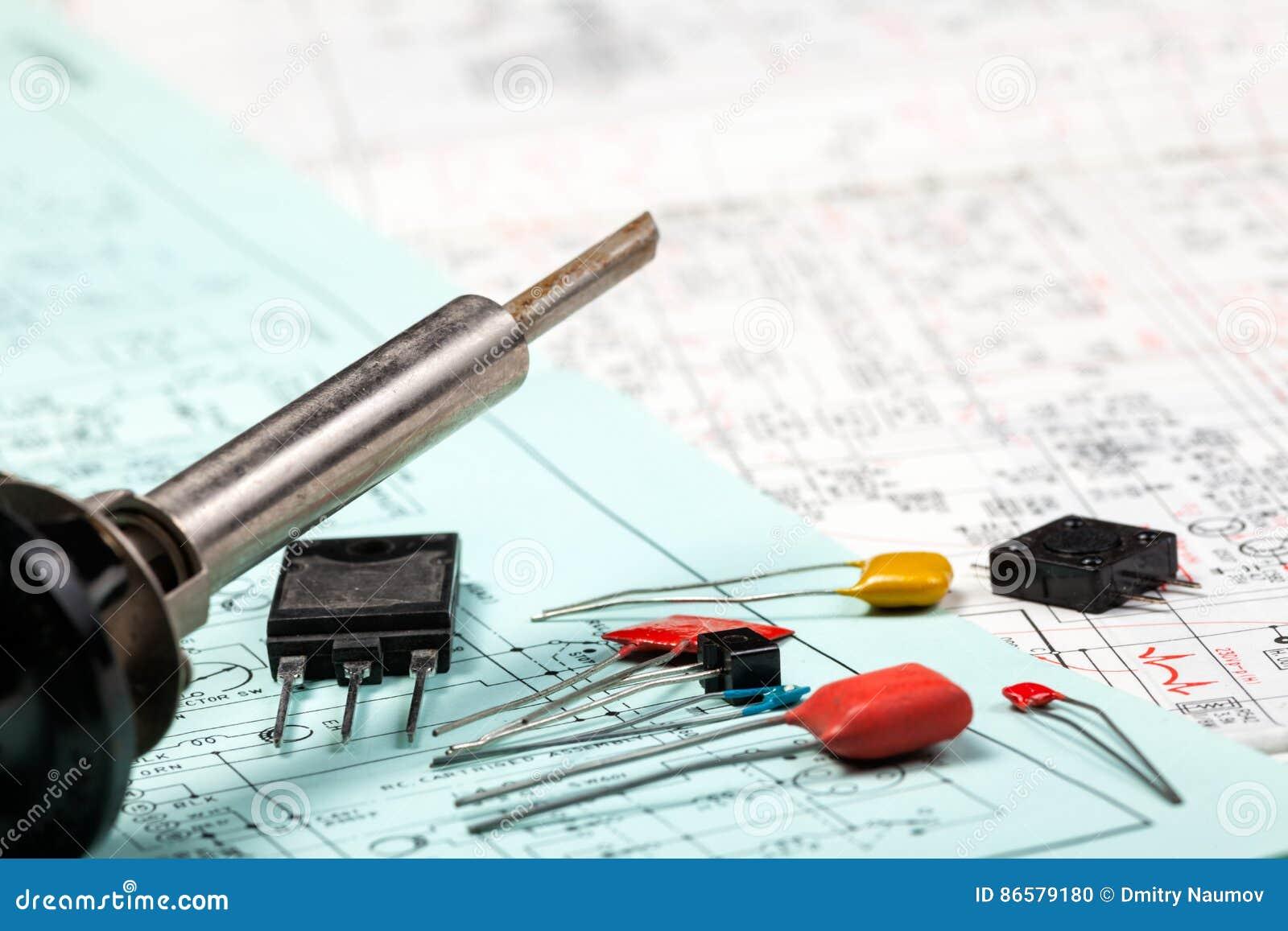 Schemi Elettrici Came : Componenti elettronici e ferro sugli schemi elettrici fotografia
