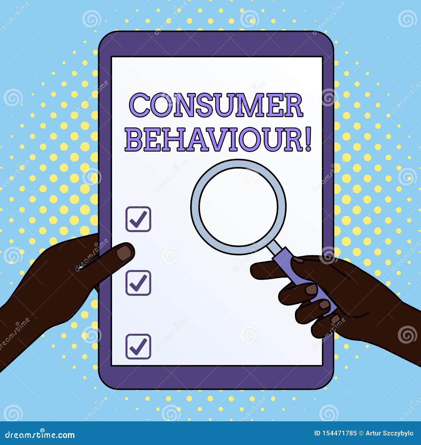 Comportement du consommateur des textes d ?criture de Word Concept d affaires pour les décisions que l apparence prennent pour ac