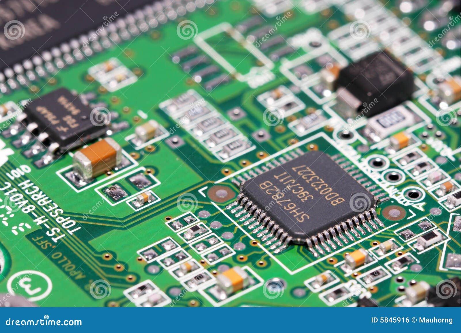 composant lectronique photo stock image du ordinateur 5845916. Black Bedroom Furniture Sets. Home Design Ideas