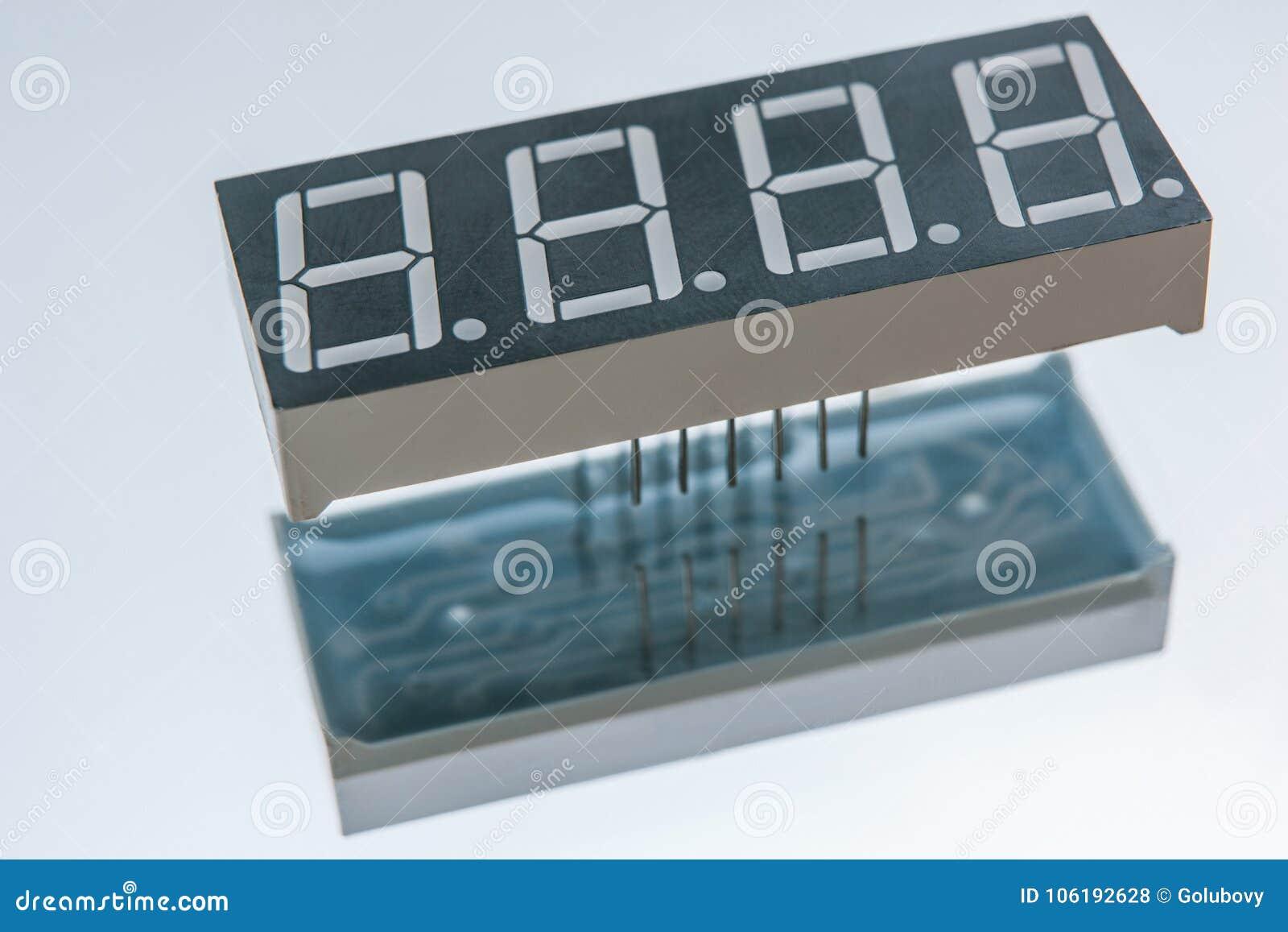 Composant électronique de puce d affichage d horloge